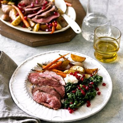 Pomegranate Glazed Lamb Rump
